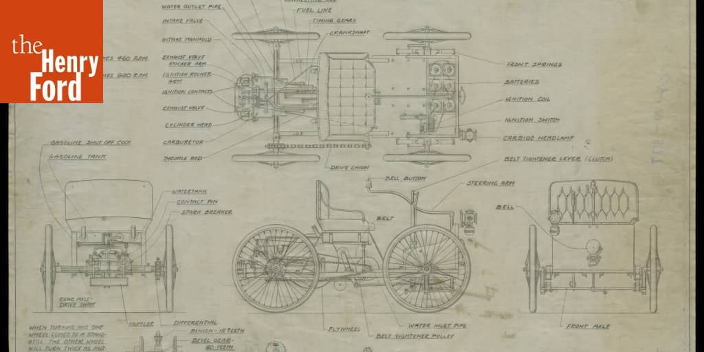Scale Drawing For A Model Of The 1896 Ford Quadricycle